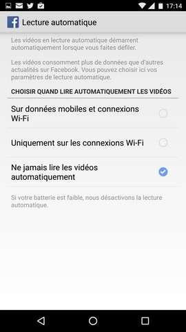 La lecture automatique des vidéos dans le fil d'actualité consomme des données, ce qui peut coûter cher sur un smartphone. © Futura-Sciences