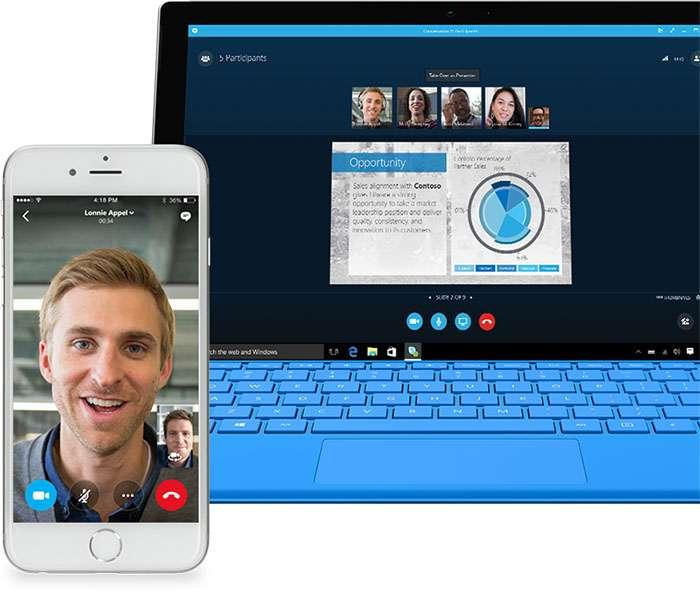 Skype sur mobile et PC. © Microsoft