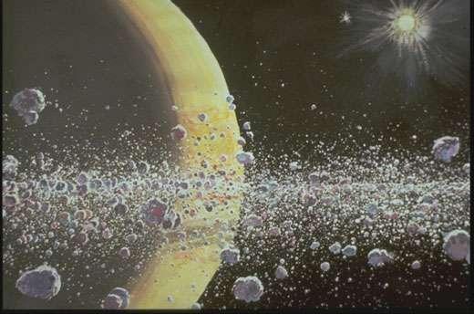 Dans les anneaux de Saturne. © Dessin Daniel Bardin - Reproduction et utilisation interdites.