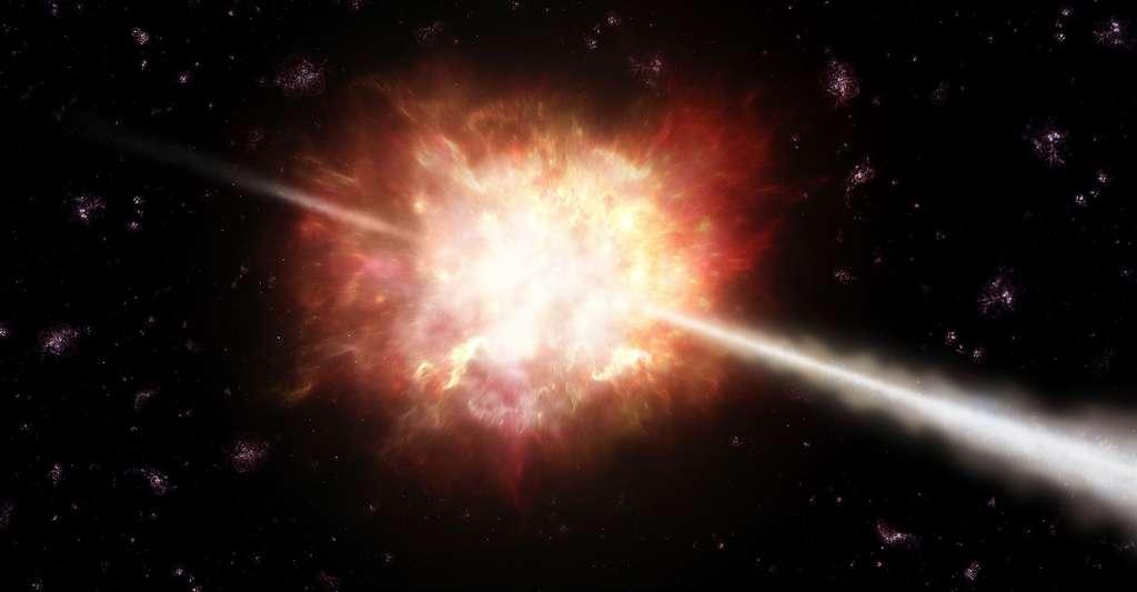 En savoir plus sur les sursauts gamma. © ESO, CC by 4.0