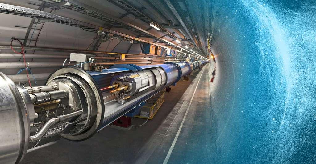 Le champ de Brout-Englert-Higgs (BEH) est associé à une particule, le fameux boson de Higgs. L'existence de ce dernier a pu être confirmée en 2012 grâce au LHC, visible sur cette photo. © Cern