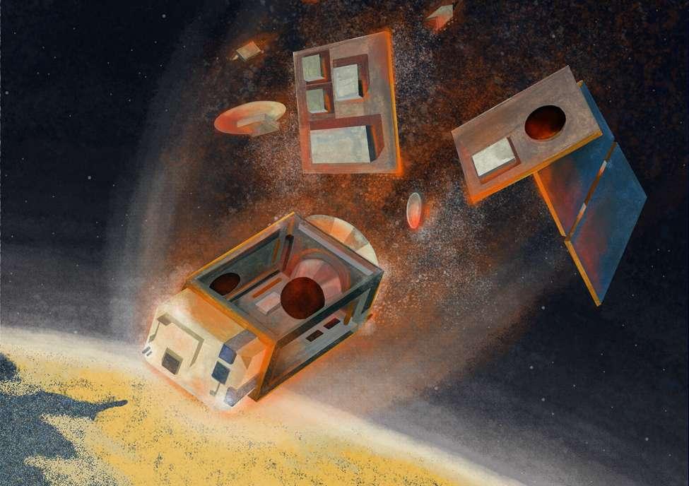 Les satellites se consumant dans l'atmosphère produisent des oxydes d'aluminium nocifs pour la couche d'ozone. © ESA, Sacha Berna