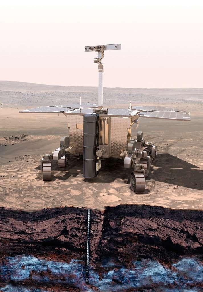 Réalisé sous la maîtrise d'œuvre de Thales Alenia Space, le rover ExoMars 2018 devrait atterrir sur Mars en fin d'année 2018. © Esa, mars 2013