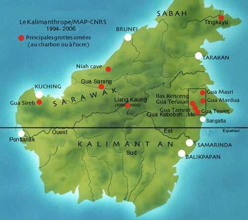 Carte de localisation générale des sites.