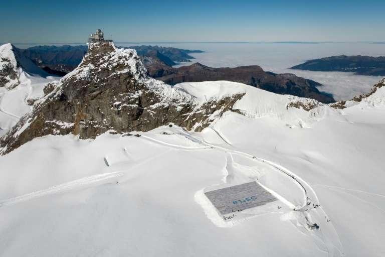 Vue aérienne du glacier d'Aletsch le 16 novembre 2018. © Fabrice Coffrini, AFP, Archives
