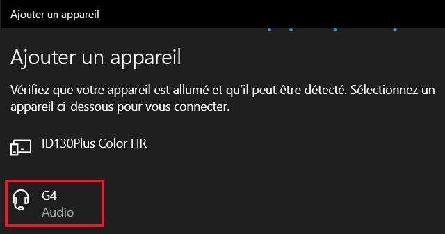 Sélectionnez l'appareil que vous voulez connecter à votre PC. © Microsoft