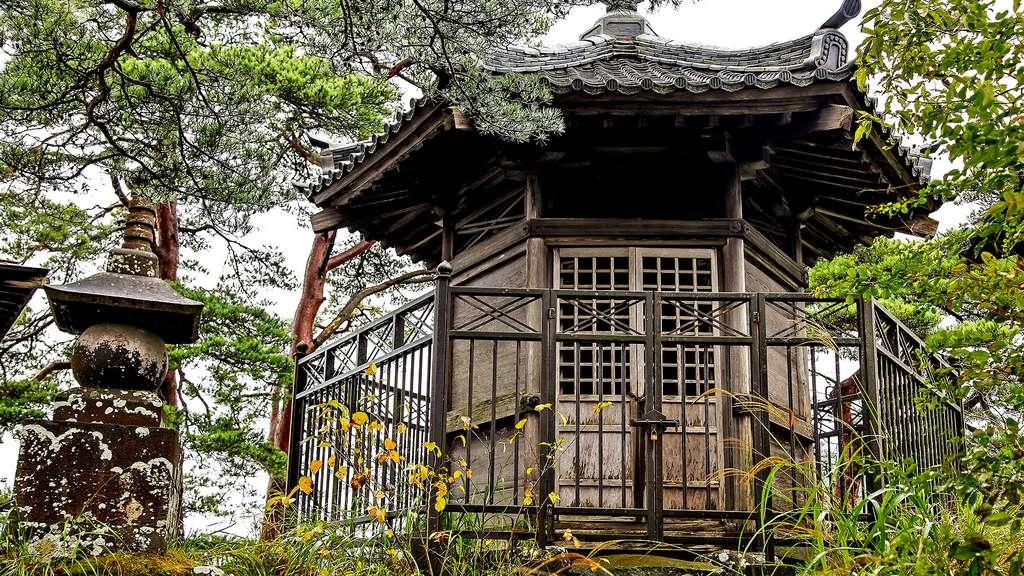 Un temple sur un îlot de la baie de Matsushima