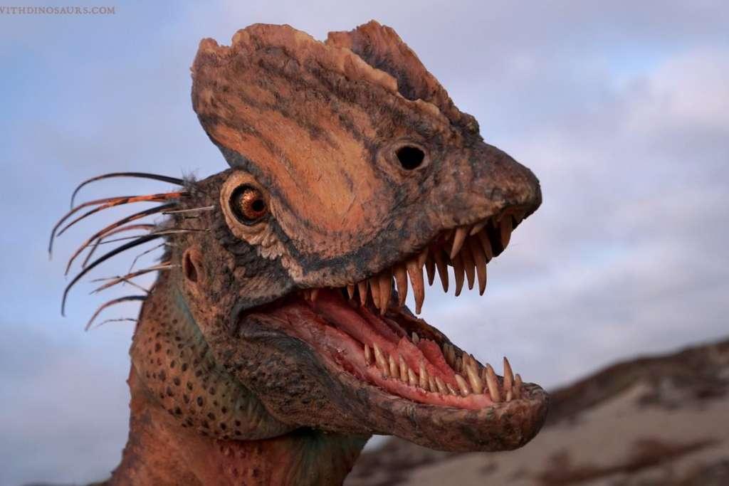 Interprétation d'artiste du Dilophosaurus, basée sur la dernière étude. © Brian Engh, Musée Saint George de découverte des dinosaures