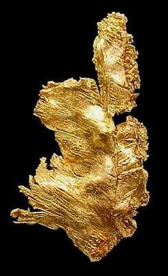 L'or, ce métal recherché. © Webmineral, tous droits réservés
