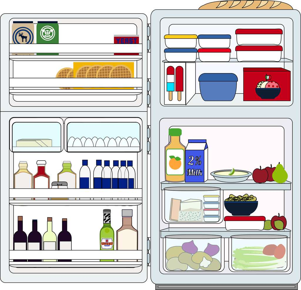 Bien ranger les aliments dans son frigo permet d'éviter les contaminations. © Pixabay