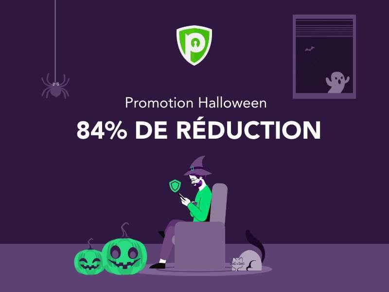L'offre Halloween de PureVPN, un bon plan pour bénéficier d'un abonnement à moindre coût et connecter jusqu'à 10 appareils en simultané. ©PureVPN