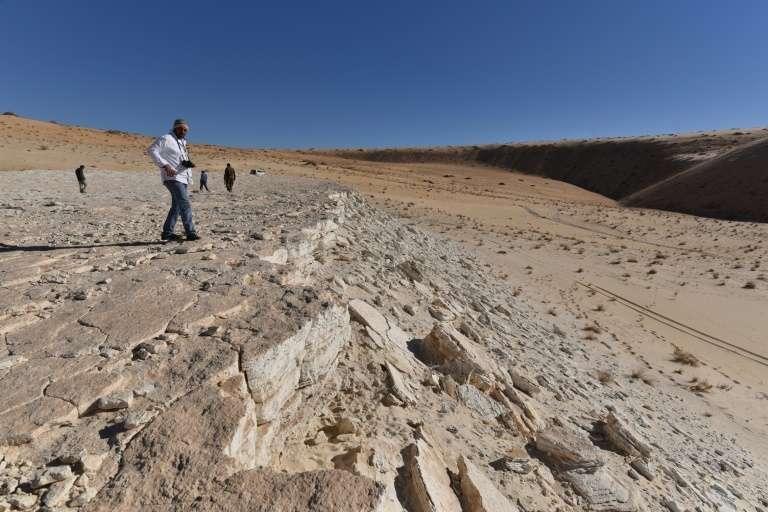 Vue de la surface d'un ancien lac baptisé Alathar, en Arabie saoudite. © Badar Zahrani, AFP, Archives