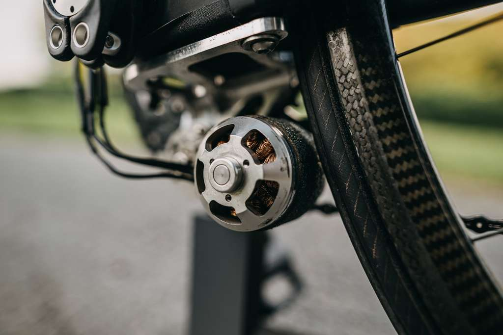 Le moteur à friction du Freicyle provient de l'aéromodélisme. Il fallait y penser ! © Timm Heese, Freicycle