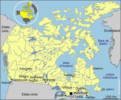 Le Canada est un territoire très vaste. © DR