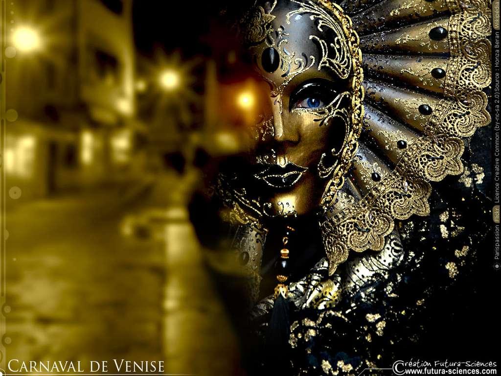 Carnaval de Venise or et paillettes