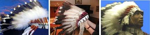 De gauche à droite : parure Sioux, parure Crow, parure Blackfoot. © Reproduction et utilisation interdites