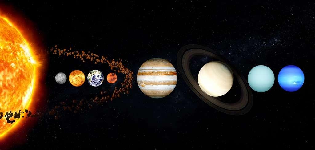 Système solaire avec la ceinture d'astéroïdes. © Daniel Roberts, Pixabay