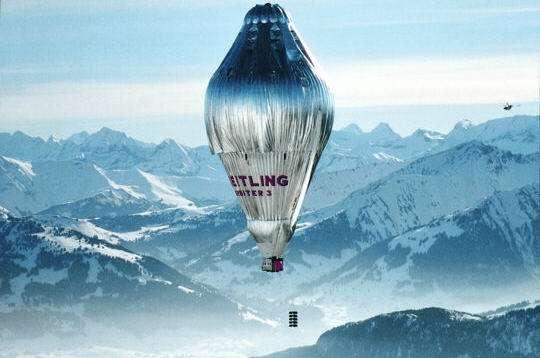 Le premier tour du monde en ballon a été à l'origine de l'idée de l'avion solaire. © Bertrand Piccard