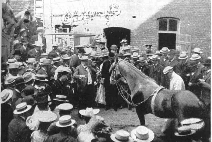 Hans le malin, lors d'une représentation à Leipzig (Allemagne), en 1912. © Karl Krall, Wikipedia, Domaine public