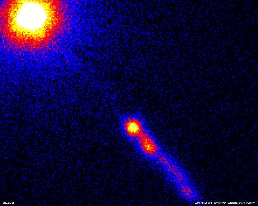 Le quasar 3C 273 vue par Chandra en rayon X. © Nasa