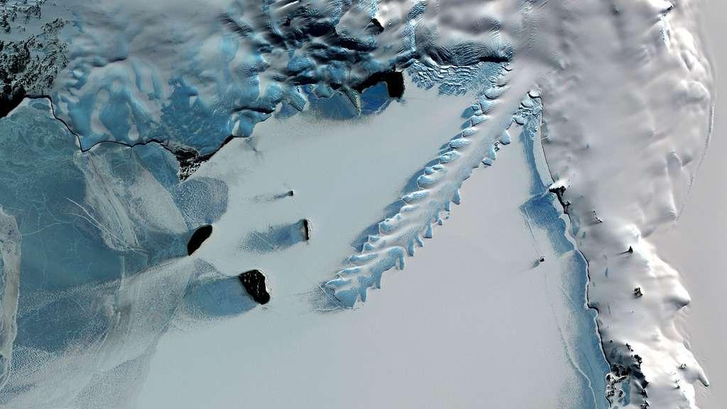 La langue du glacier Erebus en Antarctique