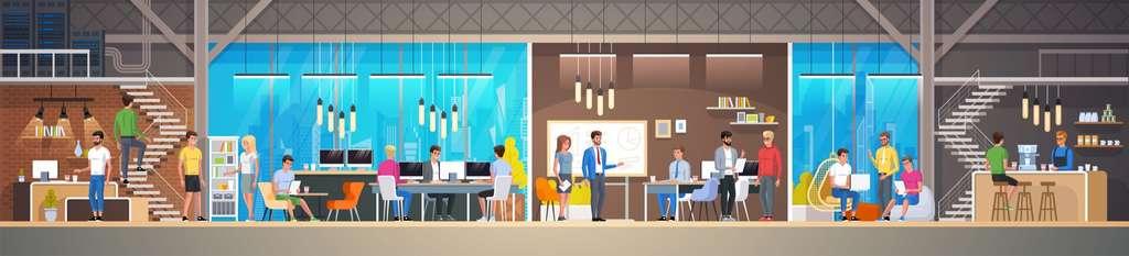 La notion de territoire s'efface au profit d'espaces collaboratifs et s'aménage en fonction des besoins de l'entreprise ©Ico Maker, Fotolia