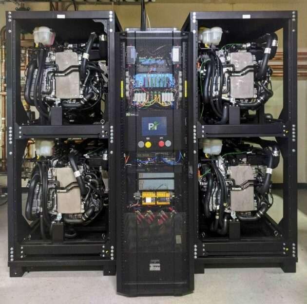 C'est avec cette pile à combustible que Microsoft a réalisé ses expérimentations. Cette technologie pourrait servir à remplacer les groupes électrogènes au diesel des datacenters. © Microsoft
