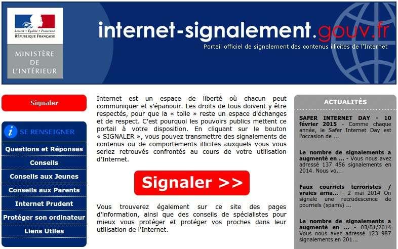 Sur les 5 millions de sites Internet sécurisés potentiellement concernés par la faille Freak, on trouve 896 sites français dont 4 appartenant à l'administration. C'est le cas notamment du portail de signalement des contenus illicites de l'Internet du ministère de l'Intérieur. © interieur.gouv.fr