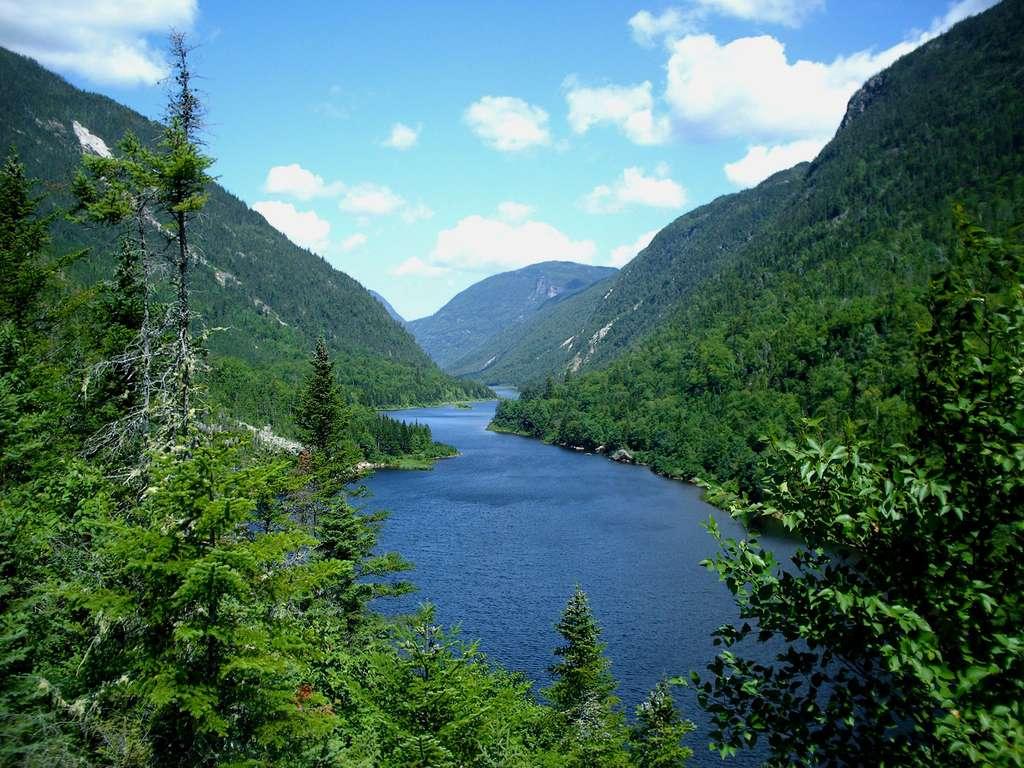 La rivière Malbaie, dans le parc national des Hautes-Gorges-de-la-Rivière-Malbaie. © David Touzin, DP