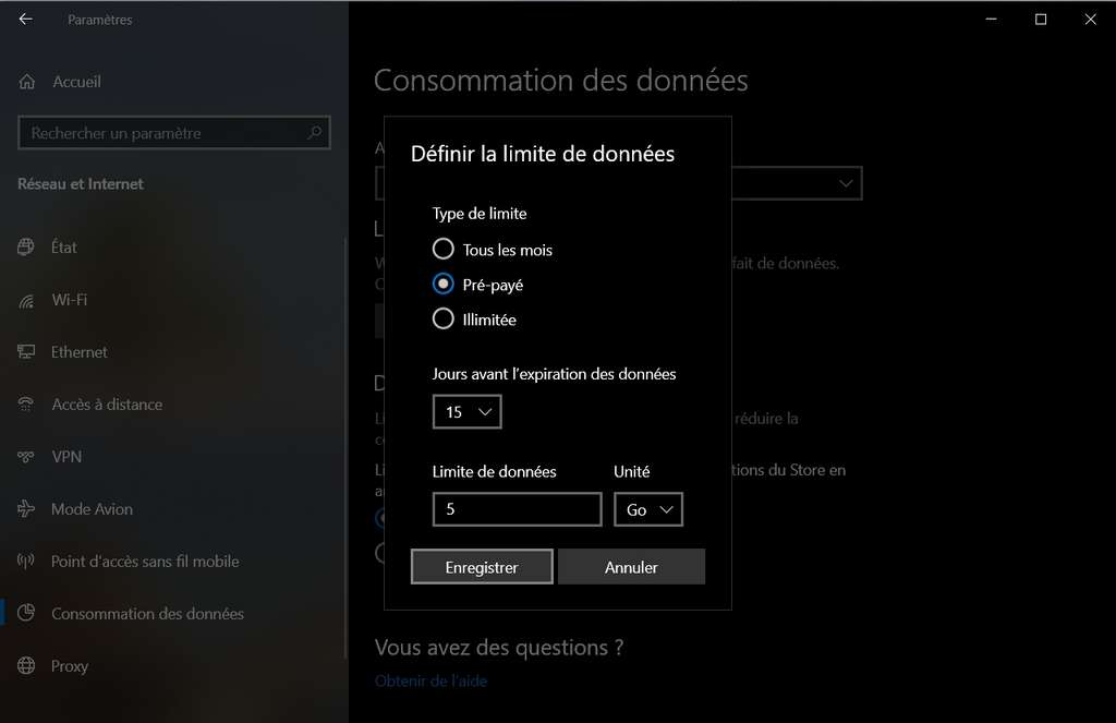 Création d'une limite de données. © Microsoft Corporation