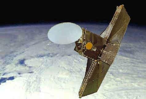 Le satellite Odin, vue d'artiste (Crédits : Swedish Space Corporation).