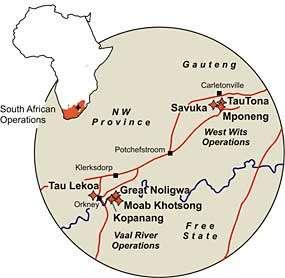 Anglogold Ashanti, Afrique du Sud.