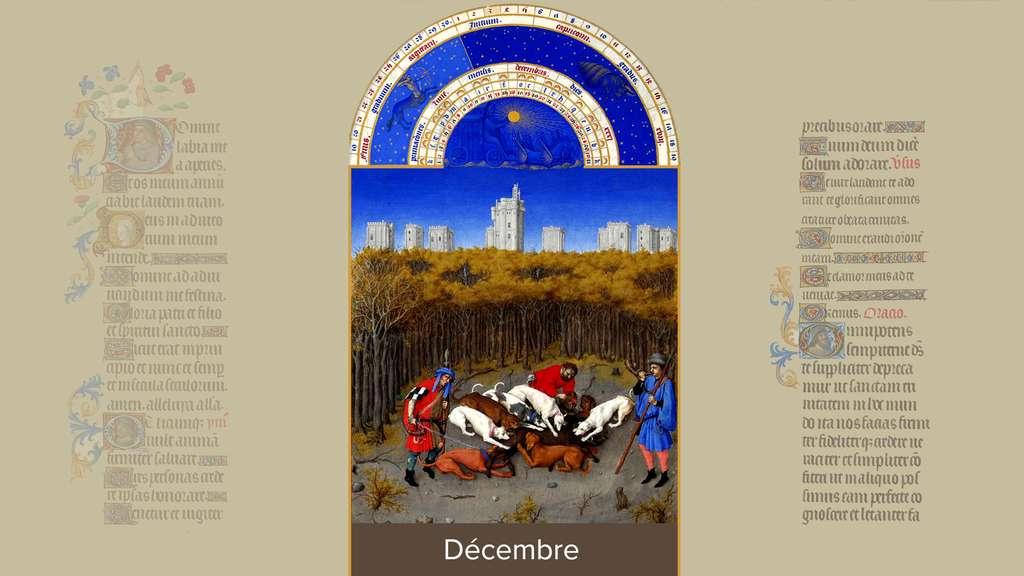 Décembre : scène de chasse au château de Vincennes