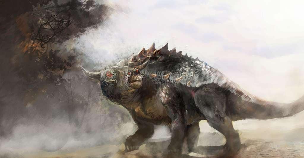 Dessin d'un ankylosaure. © Vuk Kostic, Shutterstock
