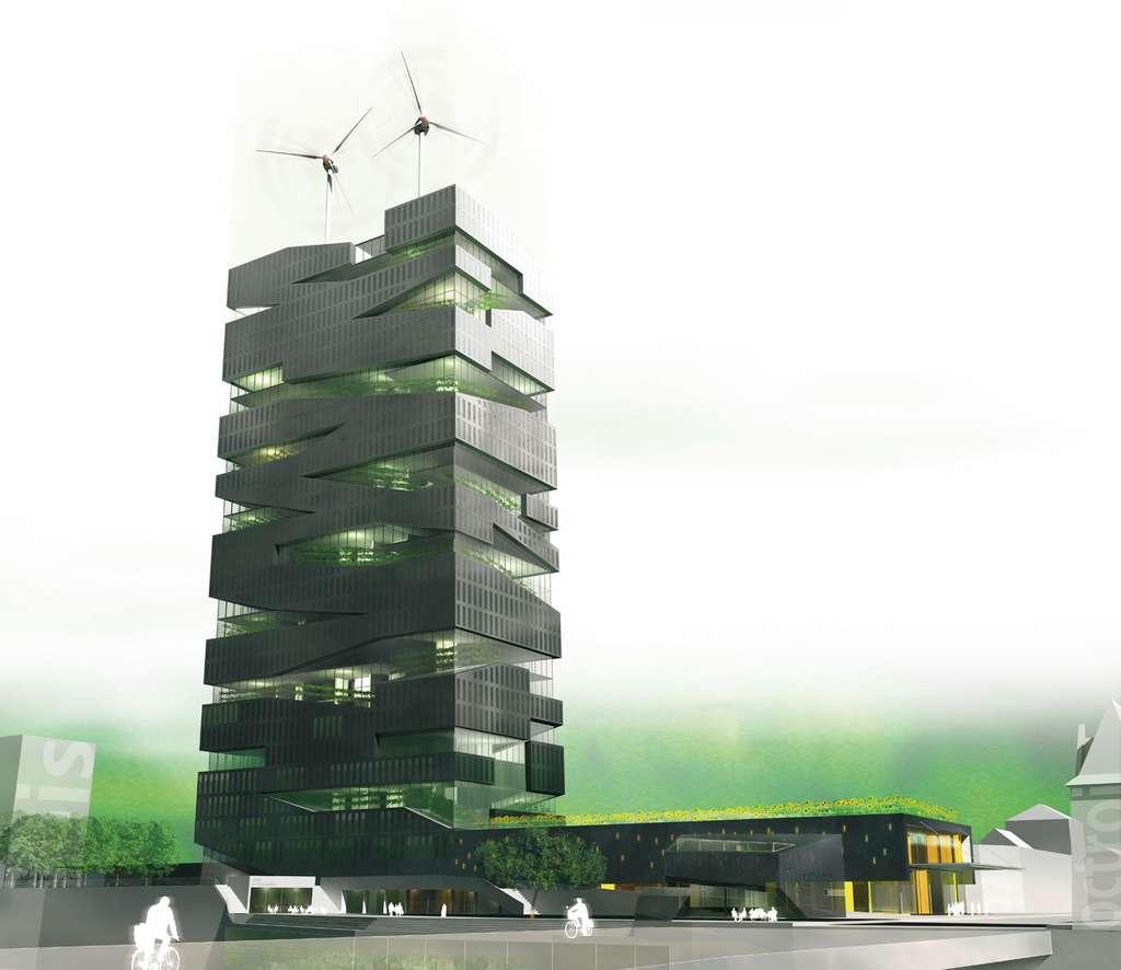 La Tour vivante, une exploitation agricole au cœur des bureaux et des logements