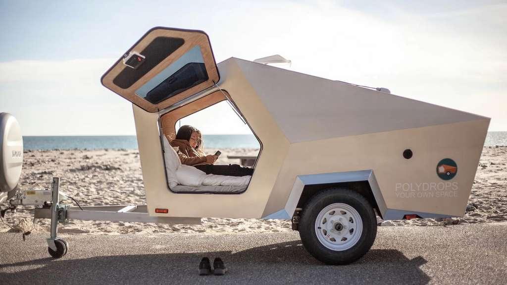 Entre la remorque et la caravane, Polydrops intègre son propre système de freinage. © PolyDrops