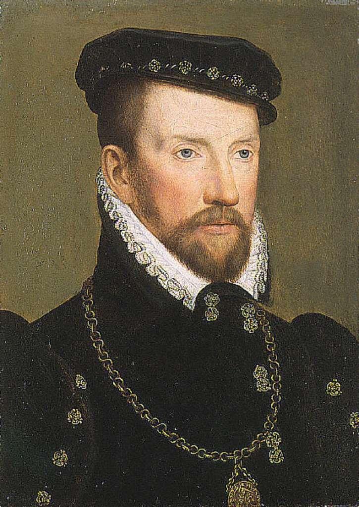 Portrait de l'amiral Gaspard de Coligny, par François Clouet vers 1570. Saint Louis Art Museum, USA. © Domaine public.