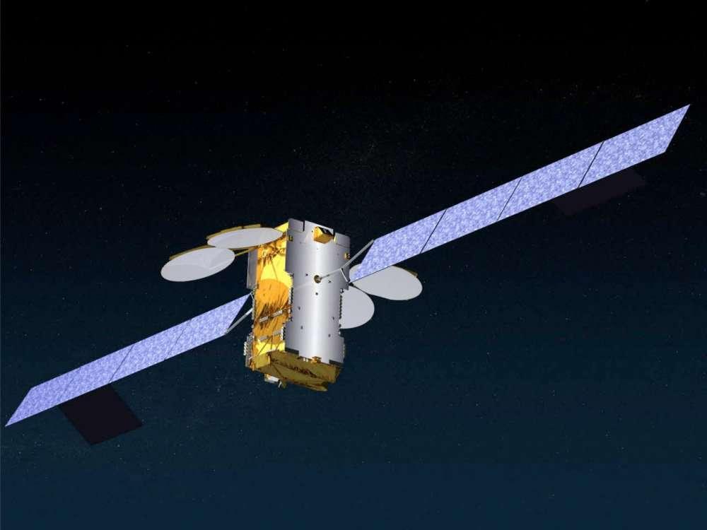 Ka-Sat, un satellite géostationnaire qui peut recevoir et transmettre à haut débit sur l'Europe. © Astrium