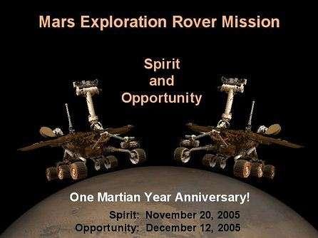 Premier anniversaire martien pour les astromobiles Spirit et Opportunity ! (Crédits : NASA/JPL)