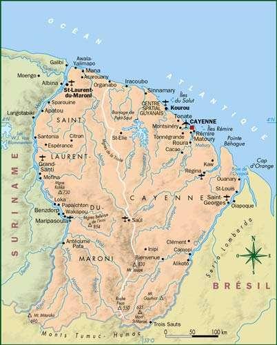 Carte de Guyane. © DR