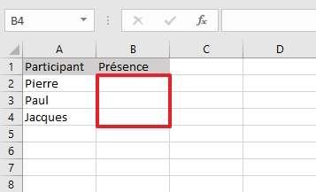 Créez d'abord le document dans lequel vous allez placer les menus déroulants. © Microsoft