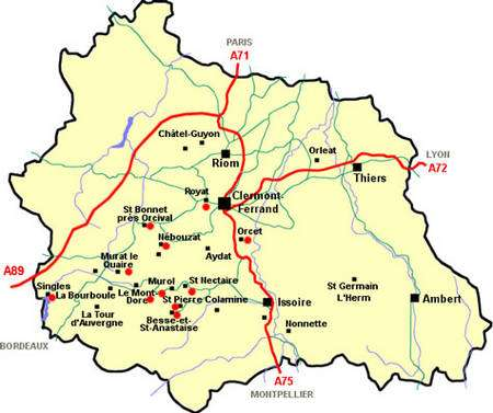 Puy de Dôme carte