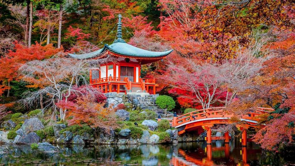Le jardin Daigo-ji, temple des fleurs à Kyoto