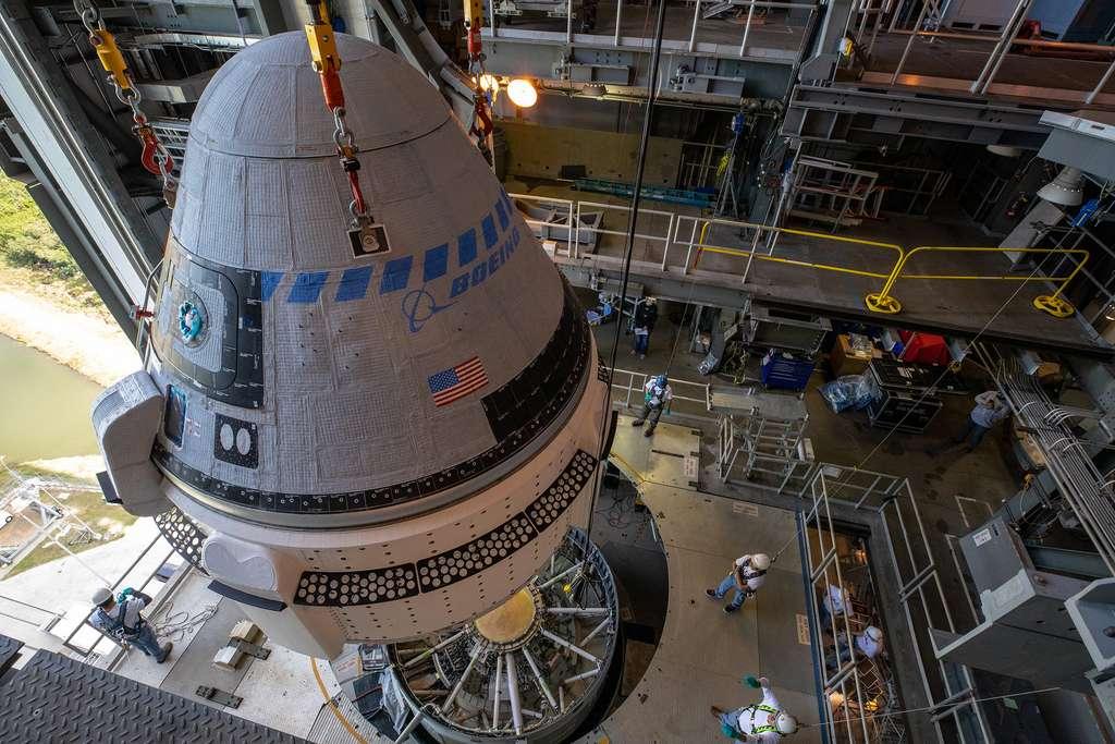 La capsule habitée Starliner de Boeing installée sur son lanceur Atlas 5 d'ULA. © Nasa, Boeing