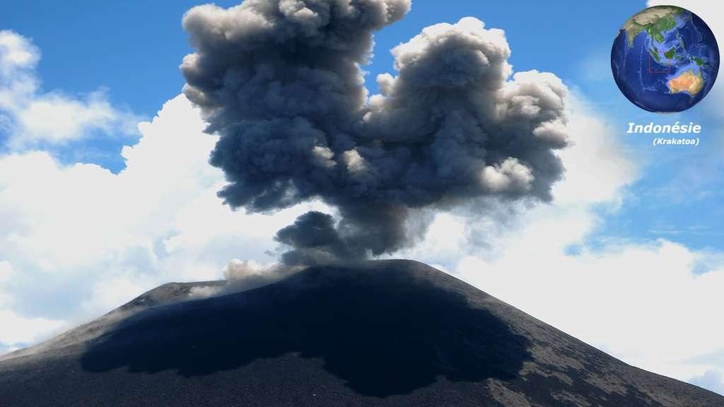 Le Krakatoa, en Indonésie, et son éruption de 1883
