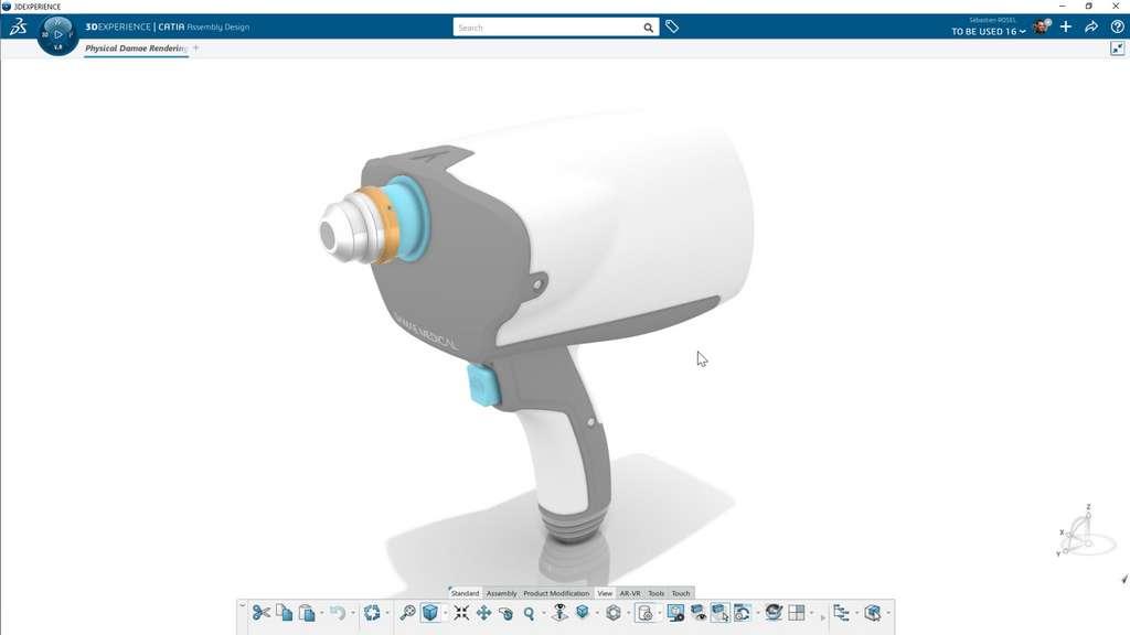 L'appareil d'imagerie optique de Damae Medical est une sonde portable qui permet d'analyser les tissus profonds de la peau. © Damae Medical