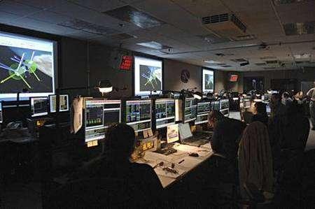 La salle de contrôle des instruments de Hubble. Crédit Nasa
