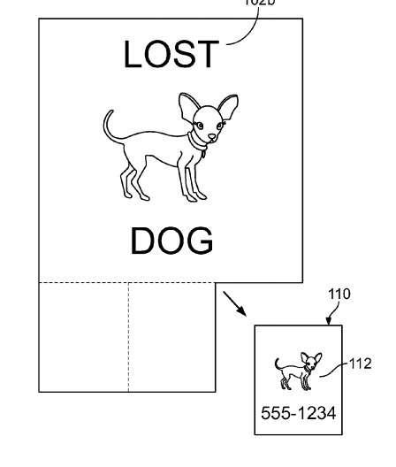Ce dessin sommaire adossé au brevet de Google donne un exemple du fonctionnement de l'écran détachable qui pourrait combiner différentes technologies d'affichage : Led ou Oled pour la partie principale et E-Ink pour les parties détachables. © Google, USPTO