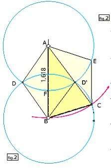 Ces deux cercles se coupent en D et D'.