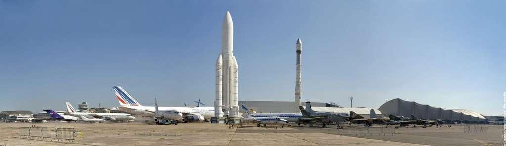 Le Musée de l'air et de l'espace au Bourget : des débuts de l'aviation jusqu'aux voyages dans l'espace. © V. Pandellé